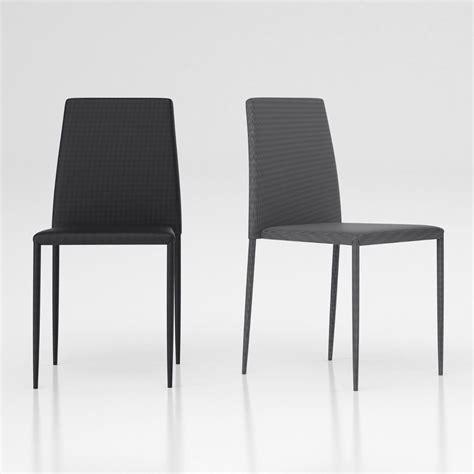 sedia metallo design lovisa sedia impilabile design in metallo e tessuto grigio