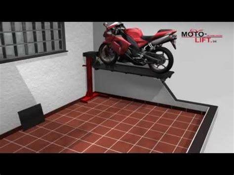 Die Motorrad Garage For Sale by Www Moto Lift De Motorcycle Lift Bikelift