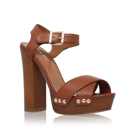 platform sandals miss kg gabby high block heel platform sandals in brown