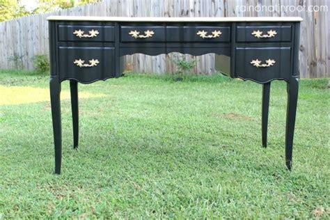 black and gold desk makeover