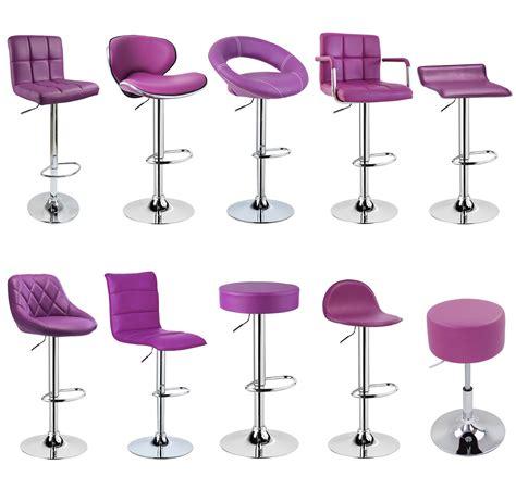 purple breakfast bar stools 2 x bar stools faux leather swivel breakfast kitchen stool