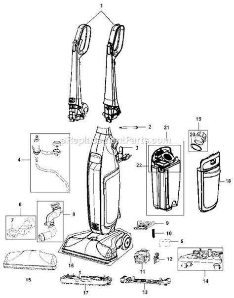 hoover floormate parts diagram hoover fh40150 parts list and diagram ereplacementparts