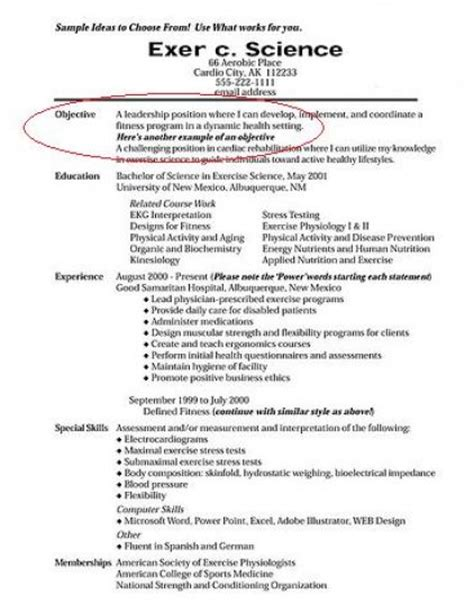 how to write a resume objective out of darkness