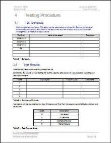 test policy template test procedure acceptance test plan template an