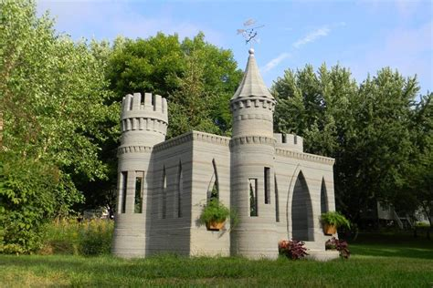 Tiny House For Backyard by Man 3 D Prints Backyard Castle Plans Two Story House Next