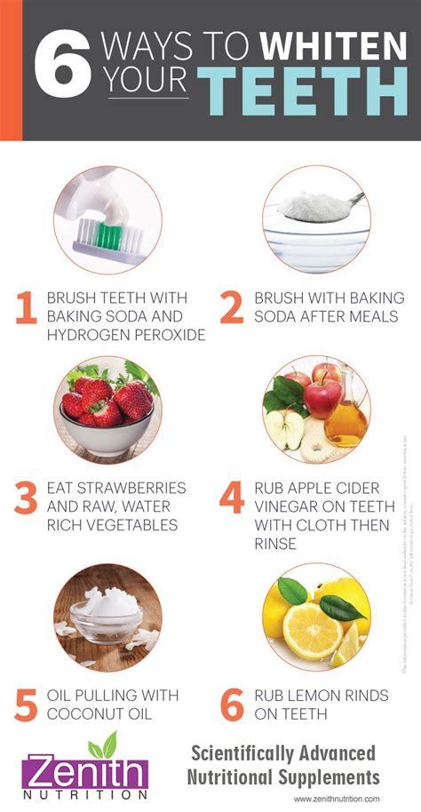 ways  whiten  teeth brush teeth  baking soda