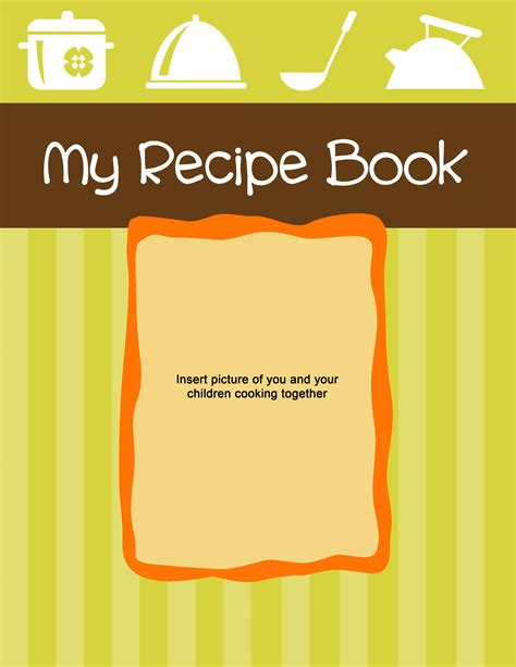 recipe book cover template free 6 best images of recipe book cover printable recipe book