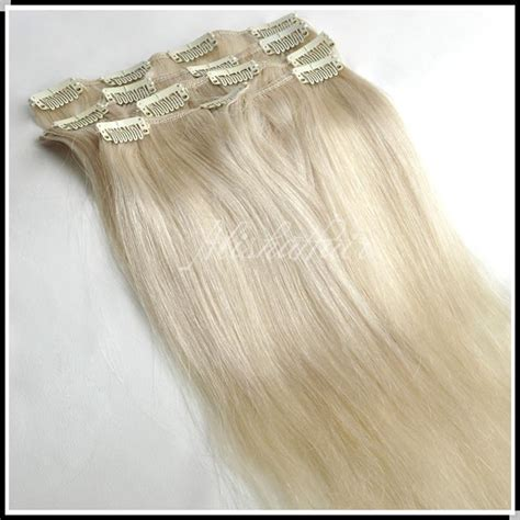 platinum blonde hair over 60 16 28inch clip in hair extensions 70g platinum blonde