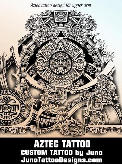 aztec calendar tribal tattoos aztec calendar tribal juno designs