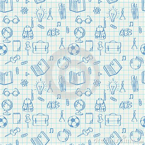 how to doodle in math seamless school pattern doodles on math paper stock photo