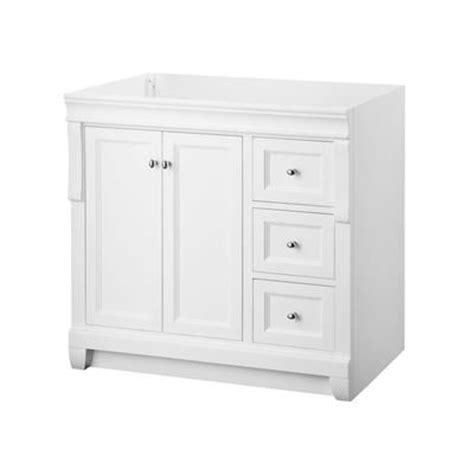 white bathroom vanity canada foremost naples white 36 inch vanity nawa3621d home
