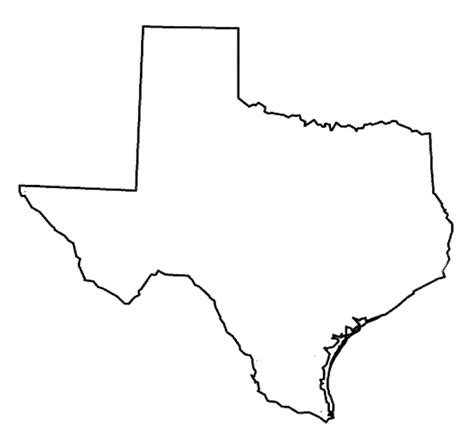 texas map shape free coloring pages of map of texas