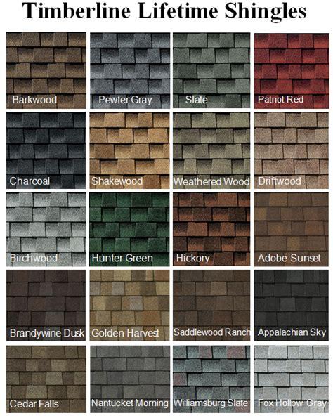 shingle styles roof shingles color chart