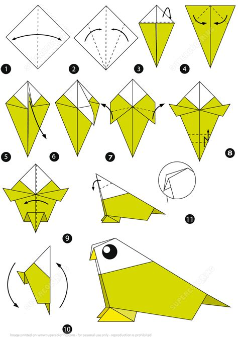 Origami Macaw Parrot Step By Step - origami turkey choice image craft