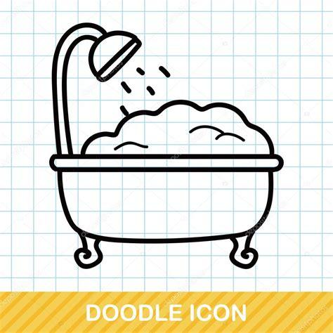 bathtub illustration bathtub doodle vector illustration stock vector 169 wenchiawang 94484554