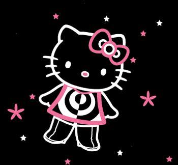 imagenes hello kitty blanco y negro figura de hello kitty en contorno blanco y rosa sobre