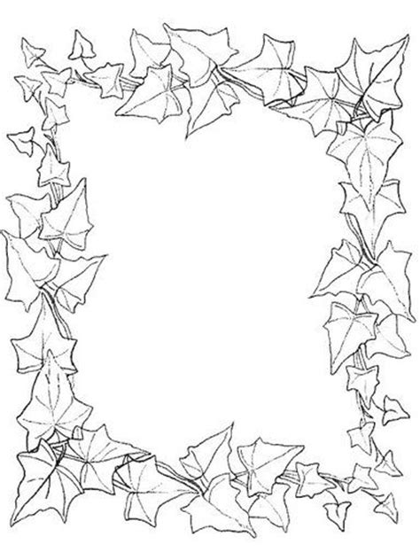 leaf border coloring pages 1000 images about bordas pedag 243 gicas on pinterest
