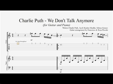 download mp3 gratis charlie puth we don t talk anymore free tabs charlie puth we don t talk anymore james