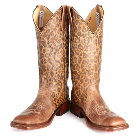 brown leopard bean boots horses heels
