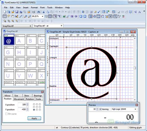 typography creator fontcreator screenshot and at snapfiles