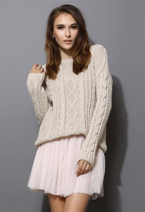 ivory cable knit sweater white sweater ivory chunky cable knit sweater ustrendy