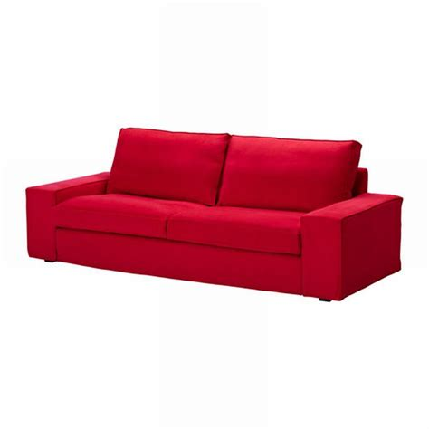 red slipcover sofa ikea kivik sofa slipcover cover ingebo bright red cotton