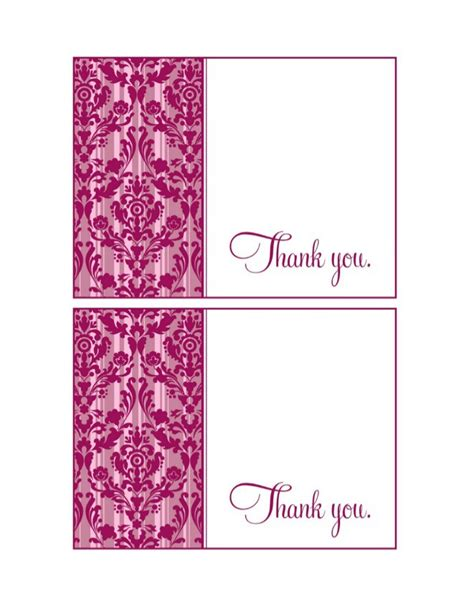 card thank you template 30 free printable thank you card templates wedding
