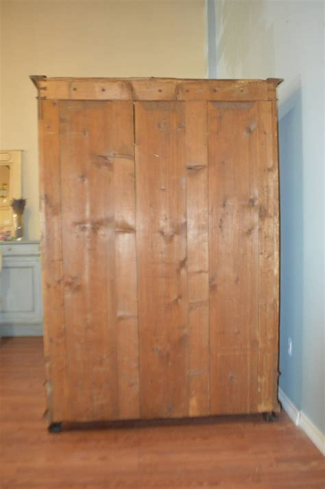 built in armoire 19th century walnut armoire with custom built in drawers at 1stdibs