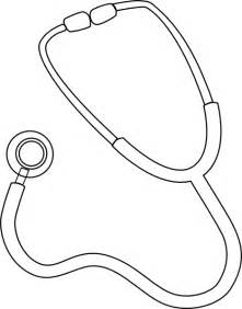 stethoscope outline clip art at clker com vector clip