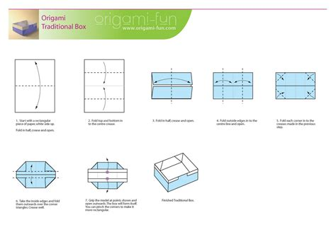 Steps To Make A Paper Box - mon petit monde origami paper box