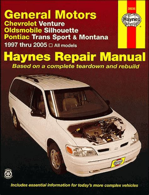 service and repair manuals 2003 chevrolet venture spare parts catalogs venture silhouette trans sport montana repair manual 1997 2005