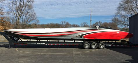 phoenix boats jobs the art of design wraps up new 50 mystic paint job