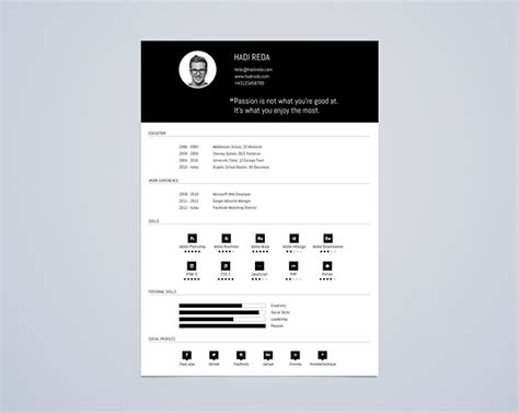 cv design behance cv resume template din a4 free psd on behance