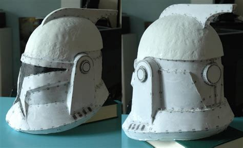 How To Make A Clone Trooper Helmet Out Of Paper - clonetrooper helmet pepakura by techxu on deviantart