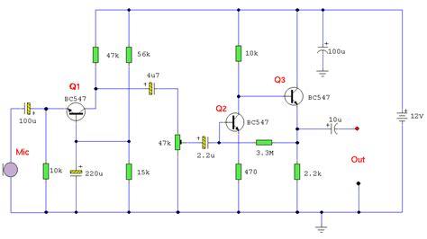 gambar transistor bc547 rangkaian pre mic dynamic low noise