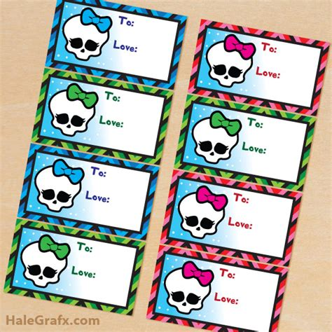 printable monster high student id cards 7 best images of monster high printable tags monster