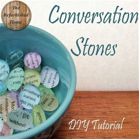 diy thoughtful gifts conversation stones a thoughtful gift diy tutorial from therefurbishedhome diy community