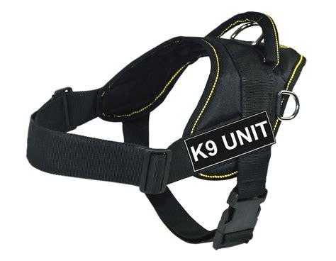 working harness working harness yellow trim with k9 unit velcro patch label tag
