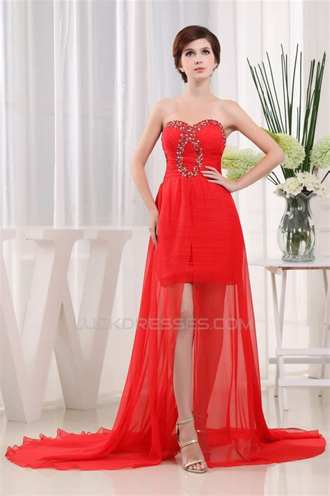 Sleeveless A Line Chiffon Dress sleeveless beading sweetheart a line chiffon prom formal