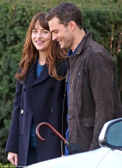 fifty shades darker filming in vancouver dakota johnson and jamie dornan on the set of fifty shades