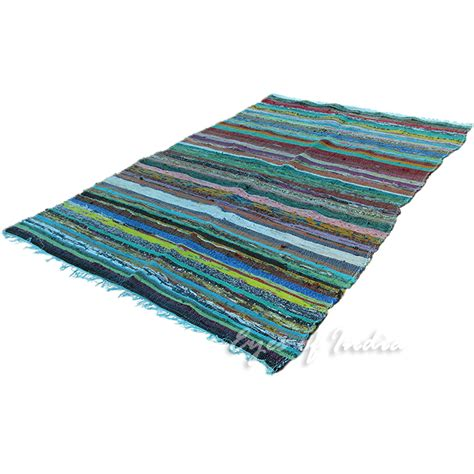 Rugs 3 X 5 by 3 5 X 5 5 Ft Colorful Rag Rug Floor Mat Carpet Woven