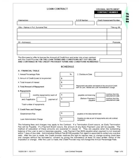 26 Great Loan Agreement Template Loan Shark Agreement Template