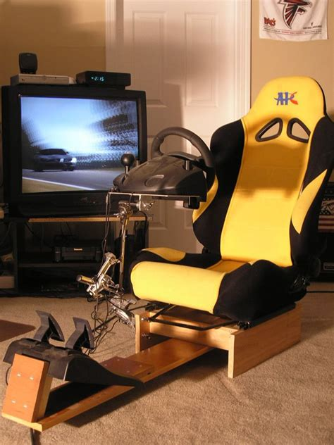 gaming setup simulator racing simulation home gaming chair racing rig