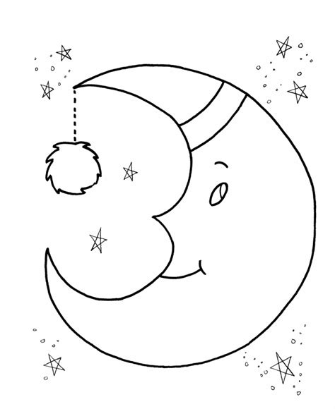 free printable moon coloring pages for kids best