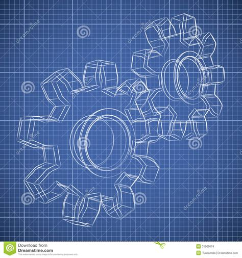 3d gear wheel sketch stock vector image of lines circle