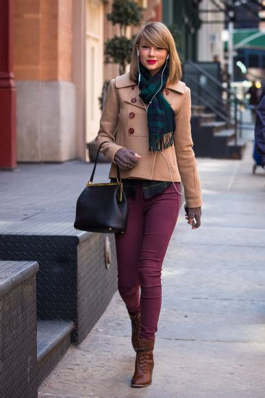 Cordoray Rubia s breasted coat with green plaid scarf and burgundy out in new