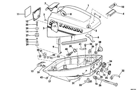 15 hp evinrude parts diagram evinrude motor cover parts for 1980 9 9hp e10rcse outboard