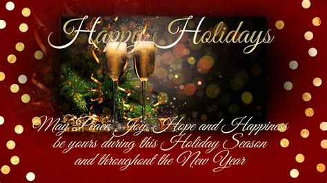 happy holidays animated card youtube