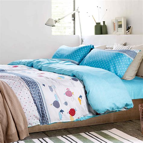 cooling bed sheets fire balloon duvet cover bedding for teens white bed