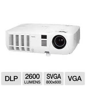 Proyektor Nec V260 nec np v260 svga 3d mobile dlp projector 2600 ansi lumens 800 x 600 4 3 2000 1 3d ready 5